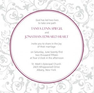 Wedding Invitations - wording if couple is hosting - From PurpleTrail