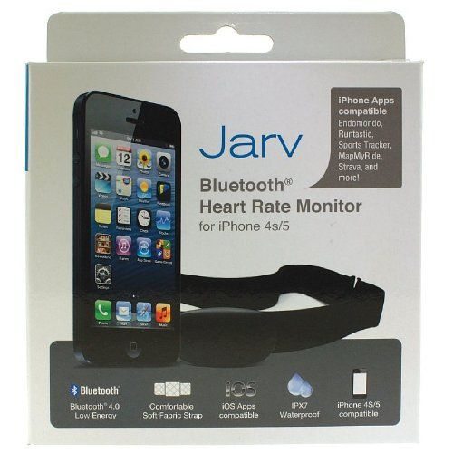 Jarv Premium Bluetooth® 4.0 Smart heart rate monitor for IPhone 4S / IPhone 5 , 5C , 5S / IPad Mini, Ipad Mini 2 / new IPod touch and other ...  List Price: $89.99 Discount: $55.00 Sale Price: $34.99