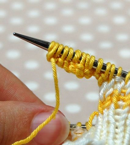 Tutorial for casting on in the middle of knitting