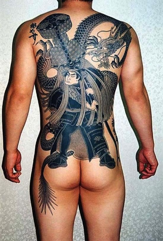 110 Fearless Samurai Tattoo Designs And Their Meanings nice  Check more at https://tattoorevolution.com/samurai-tattoo-designs/