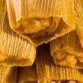Tamales with Black Beans  From Delish:   This bean-stuffed tamale recipe from Pre-Columbian Mexico is flavored with epazote, a distinctive, pungent Mexican herb that has no exact modern substitute, but can be compared to cilantro or a mix of savory and parsley.    Recipe courtesy of Cathy Kaufman, chairperson of the Culinary Historians of New York.