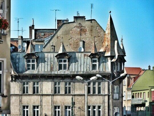 Swiss style building on Jeżyce
