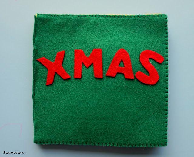 Swanocean: Felt Christmas quiet book-Τσόχινο Χριστουγεννιάτικο μαλακό βιβλίο