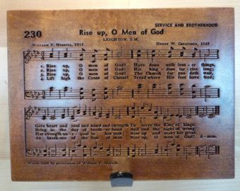 Rise Up, O Men of God hymn carving on Maple wood - Edit Listing - Etsy
