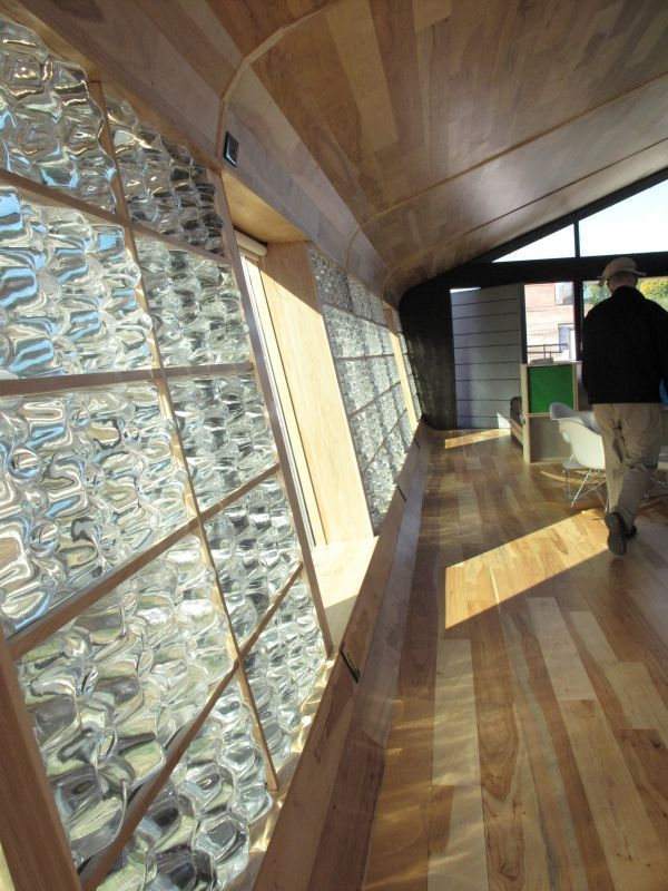 A Water Trombe Wall See Our Sustainable Homes Risingbarn