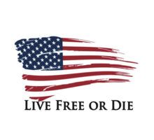 American Flag Live Free or Die Freedom New Hampshire by 8675309