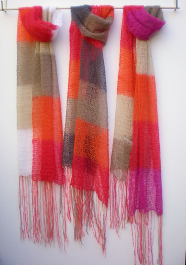 Miss Knitwear SS14 Colourblock scarves