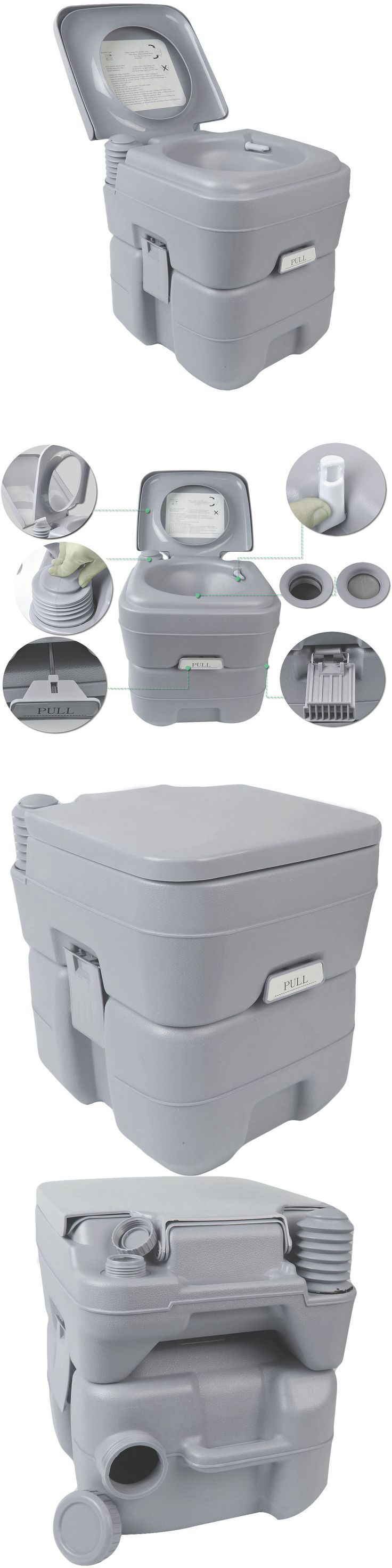 Portable commode folding bedside handicap adult toilet potty chair - Portable Toilets And Accessories 181397 Portable Toilet Camping Commode Porta Potty Restroom Outdoor A Potti