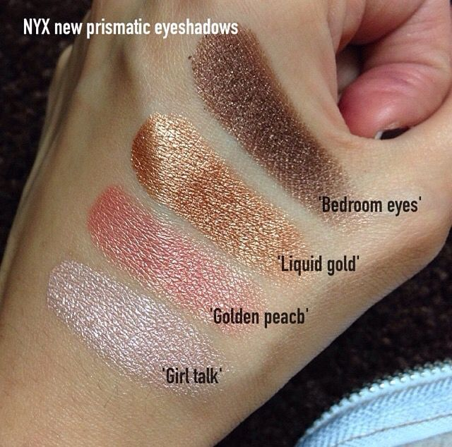 NYX prismatic eyeshadow swatches