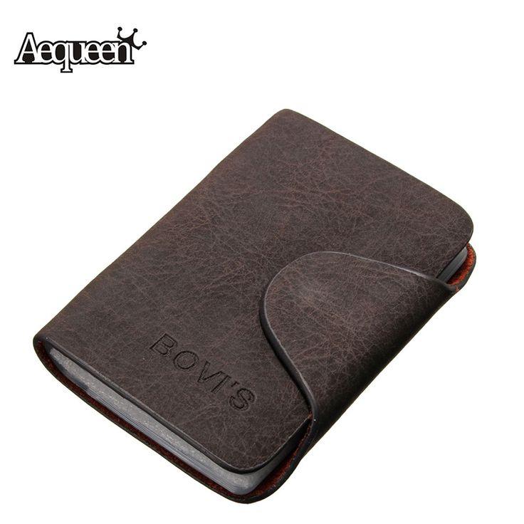 20 Bits Business ID Credit Card Holder/Case Nubuck PU Leather Buckle Fold Men Cards Holders Slots Wallet Business Card Package >>> Nazhmite na izobrazheniye dlya polucheniya dopolnitel'noy informatsii.