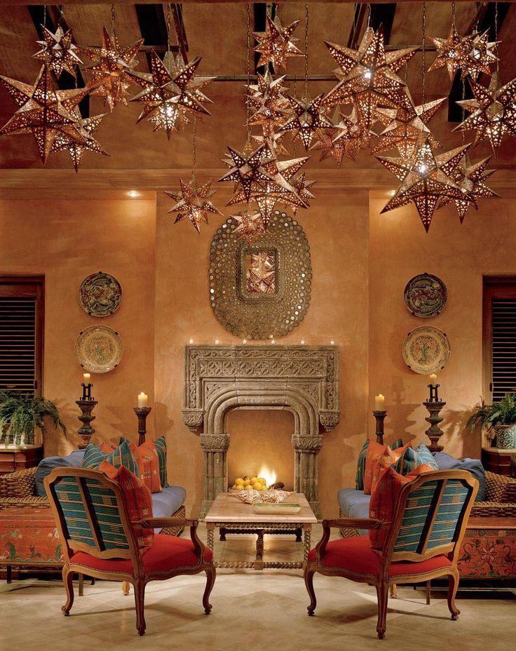 Best 25 moravian star light ideas on pinterest star for Hacienda style lighting