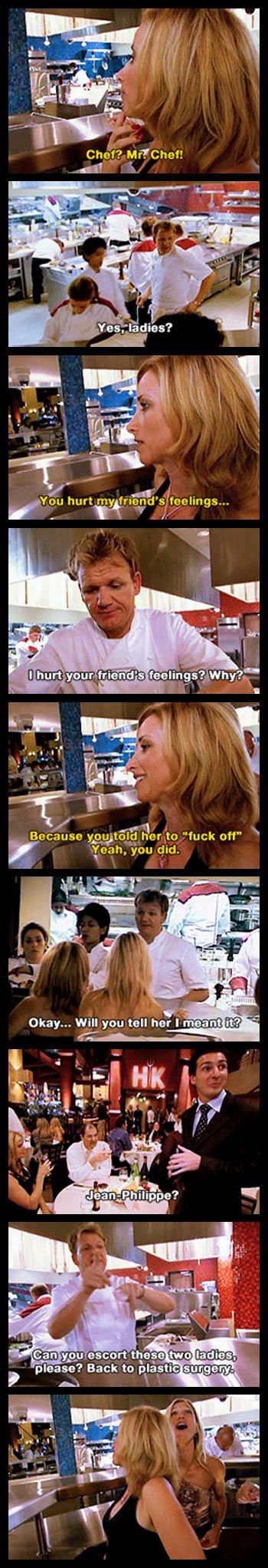 Don't mess with Chef Ramsay… especially when he's mad and in the middle of a dinner service