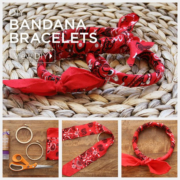 DIY Bandana Bracelets Feature by Trinkets in Bloom
