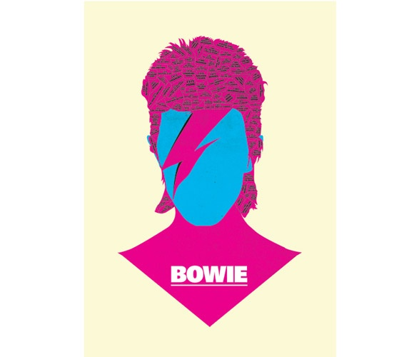Phrenology Discography - Bowie - print