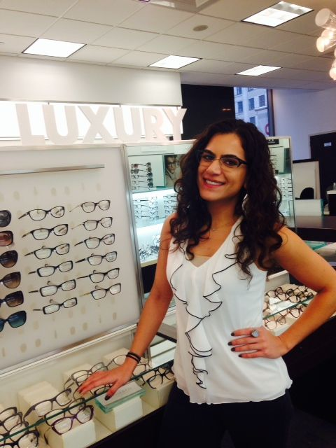c073e433ad Herald Square Eyecare s very own Dr. Athina Doulaveris models her new  MiuMiu  glasses expertly crafted by  LensCrafters.  lookin…