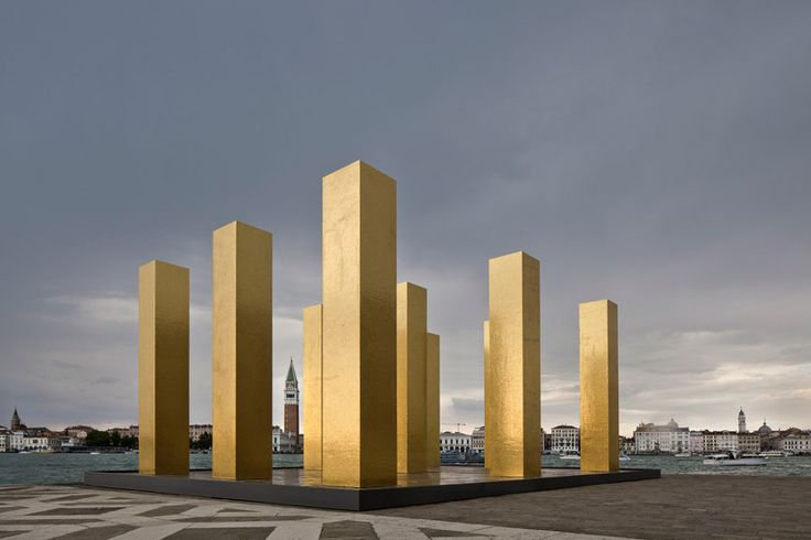 heinz mack the sky over nine columns venice biennale designboom