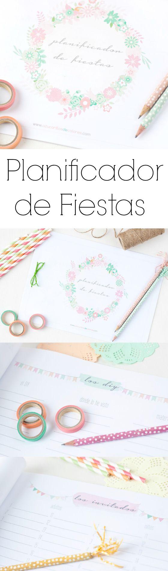Planificador de Fiestas imprimible gratis para suscriptores! http://www.azucarillosdecolores.com/2014/10/planificador-de-fiestas-imprimible-y.html