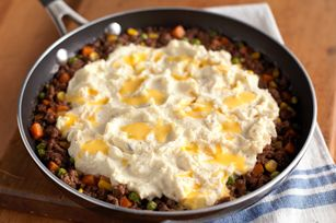 VELVEETA Shepherds Pie Skillet recipe- Sub cheddar, make real mashed, add extra veggies.