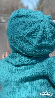 Little Cora Sweater is a seamless knitting pattern from KnotEnufKnitting. This sweater is knit from the top down, and thus has NO seams! A very fun, easy and adorable knit for any little munchkin! Click through to get the pattern from KnotEnufKnitting.