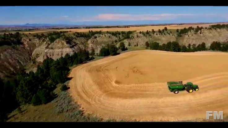 Wheat Harvest at Near Winifred, Montana 2015. !FM!.