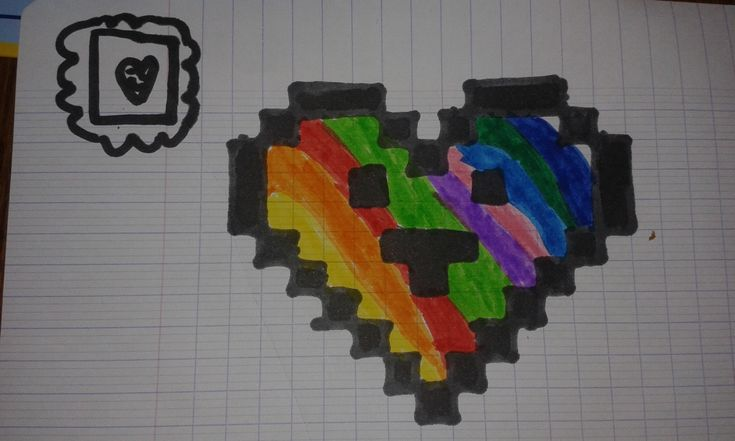 Cœur en pixels   Pixel