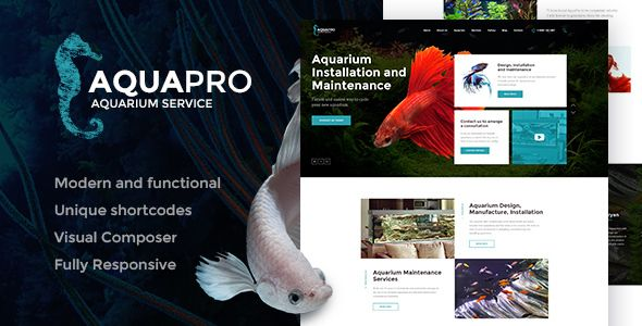 AquaPro  Aquarium Services & Online Store by AncoraThemes CURRENT VERSION 1.0 (see Change log at the bottom of this page) We are extremely happy to offer you our new micro niche WordPres