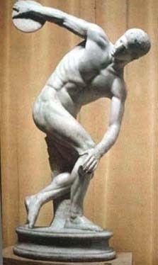 escultura griega realizada por Mirón de Eléuteras en torno al 455 a. C, la obra original esta hecha en bronce aunque es conocida por las copias realizadas en mármol.