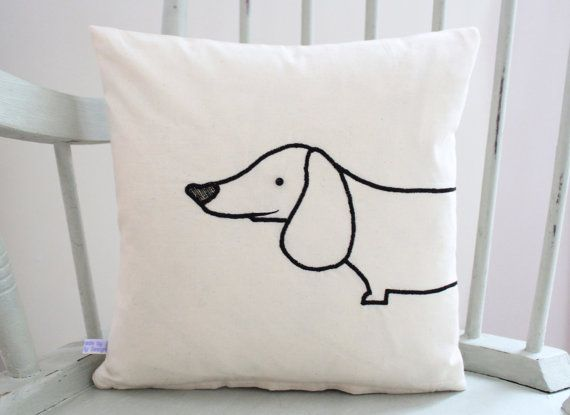 Sausage Dog Cushion Cover