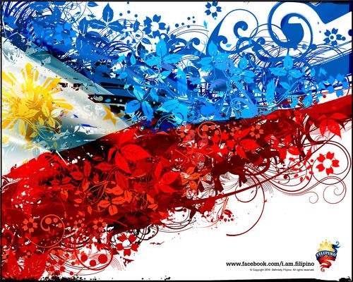 Tribal Wallpaper Pinoy Flag   philippine flag wallpaper. my wallpaper right now