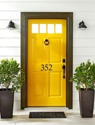 House Number Door Decal. Love this idea. House numbers without putting holes in the wall to hang them!