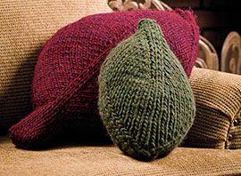 Creative Knitting Free Patterns : Falling Leaf Pillows, part of Creative Knittings FREE Pattern of the Mon...
