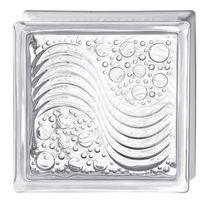 Brique de verre carrée / structure / murale / isolante