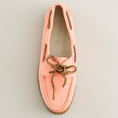 Sperry for Jcrew. Peach.: Sperry Boat Shoes, Fashion, Orange Boats, Coral Sperrys, Sperrys Topsiders, Sperrys Boats Shoes, Electric Orange, Jcrew, Pink Sperrys