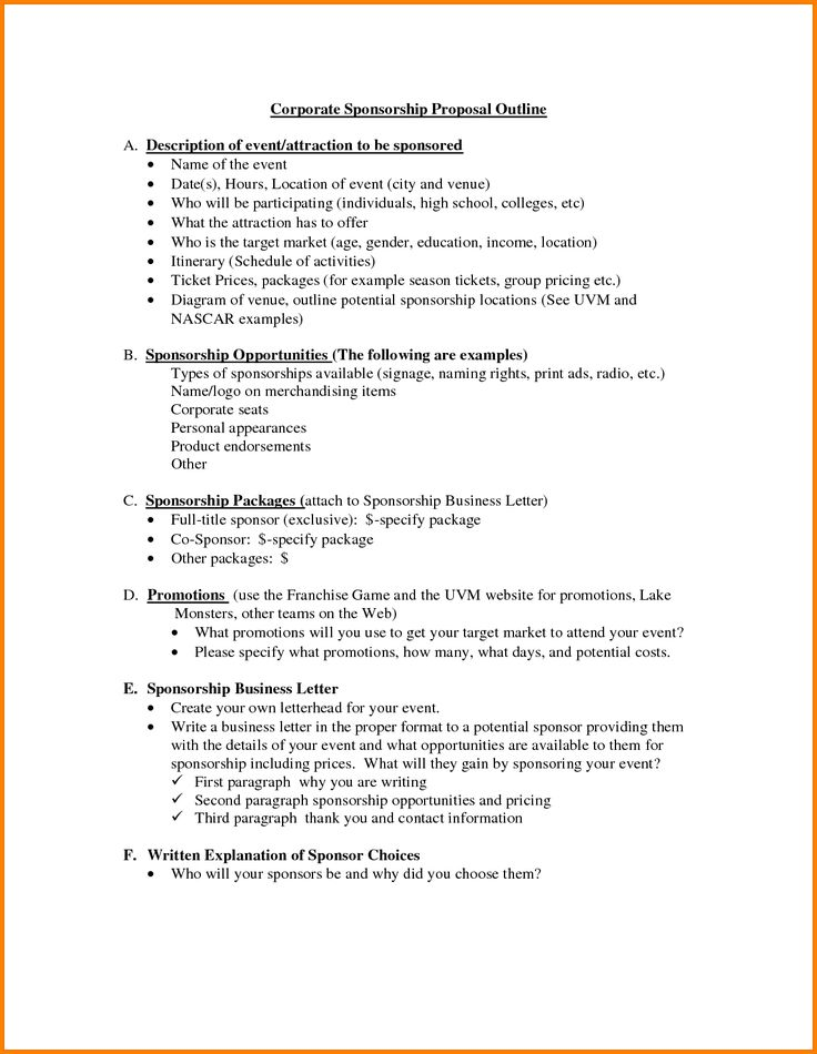 ... Best 25+ Business Proposal Outline Ideas On Pinterest The   Event Proposal  Format ...
