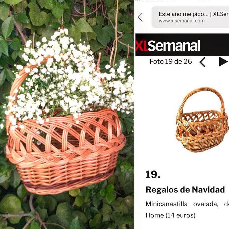 """Si te la perdiste en Navidad, cómprala en la #PROMOCIÓN #sanvalentin de Cestas Home. Dile """"te quiero"""" con #flores y nuestra #minicanastillademimbreovalada. Compra #unacestadecestashome y regala #cestasartesanales hechas a mano en España. Son #cestasdecalidad. #cestasnacionales #cestasdemimbre #cestasdecastaño #calidadcestasdeespaña #handmadebaskets #deco #home"""