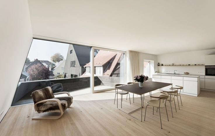 House KE12 | SoHo Architektur | Photo: Rainer Retzlaff | ArchinectLiving Kitchens, Living Dining, Kitchens Plans, House Ke12, Interiors Spaces, Interiors Design, Architecture, Soho Architektur, Inspiration Interiors