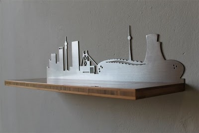 Skyline floating shelf