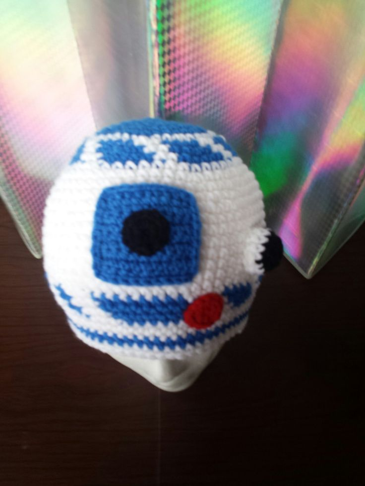 Crochet Star Wars R2D2 inspired Beanie hat - Kids- Adult -Robot hat -Boys hat- Kids- Crochet- Droid Hat - Toddler hat - Blue and white hat by MagicWoolBall on Etsy
