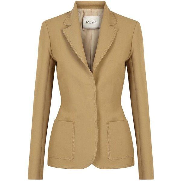 Womens Smart Jackets Lanvin Camel Linen Blend Blazer ($1,755) ❤ liked on Polyvore featuring outerwear, jackets, blazers, linen blend blazer, beige jacket, lanvin jacket, lanvin blazer and lanvin