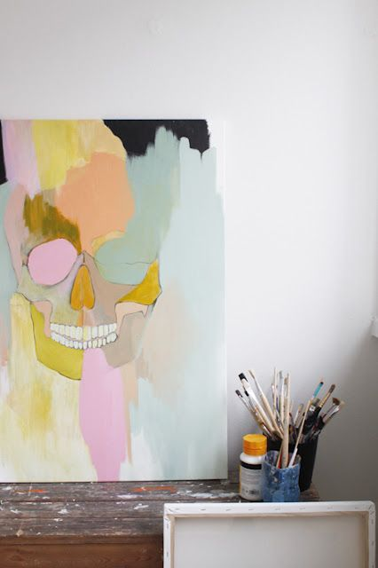 love it! #skull #art #painting