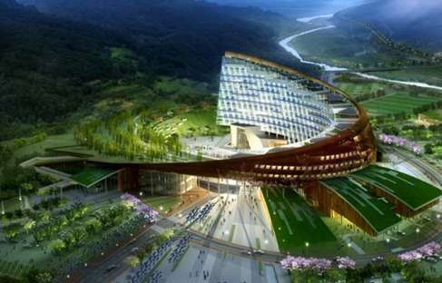architecture KHNP Headquarters: Khnp Headquart, Architecture Khnp, Headquart Maps, Futuristic Architecture, Apostroph Offices, Future, Arches, Headquart Offices, Hydro Nuclear