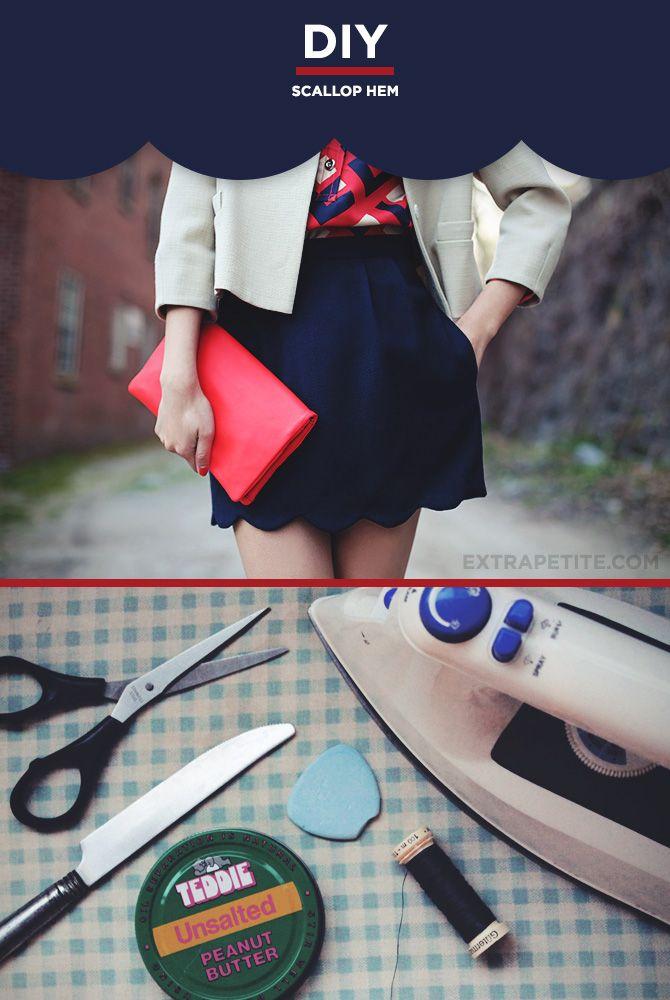 DIY: scallop hem for skirts, dresses, shorts or tops (tutorial)