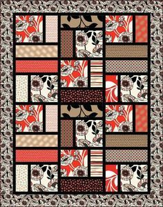 lap quilt - would be good for novelty prints (music? trains?)