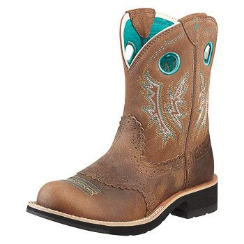 Ariat Women's Powder Brown Cowgirl Fatbaby Boots