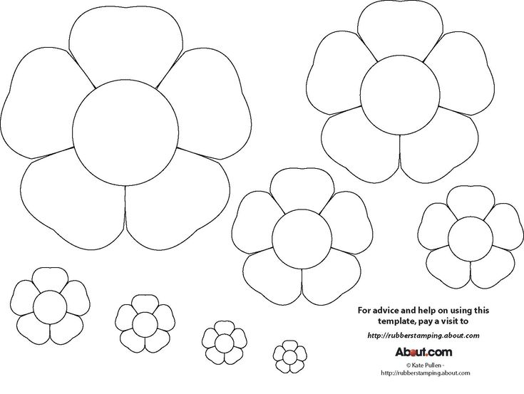 paper crafts templates | Flower Craft Project Ideas, Flower Templates and Printables