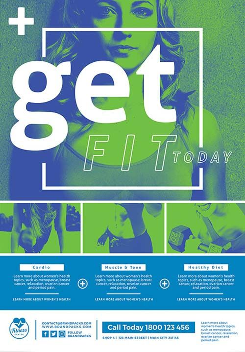 free fitness poster and flyer template gym pinterest flyer