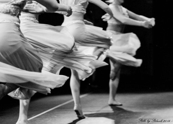 Dance Photography Lyrical Dancers in Black and White Twirling Dancers Dance Studio Decor Contemporary Dance Girls Room Nursery Decor Print