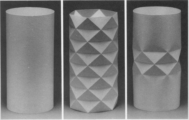 cylinder packaging template - yoshimura buckling pattern for axially compressed thin