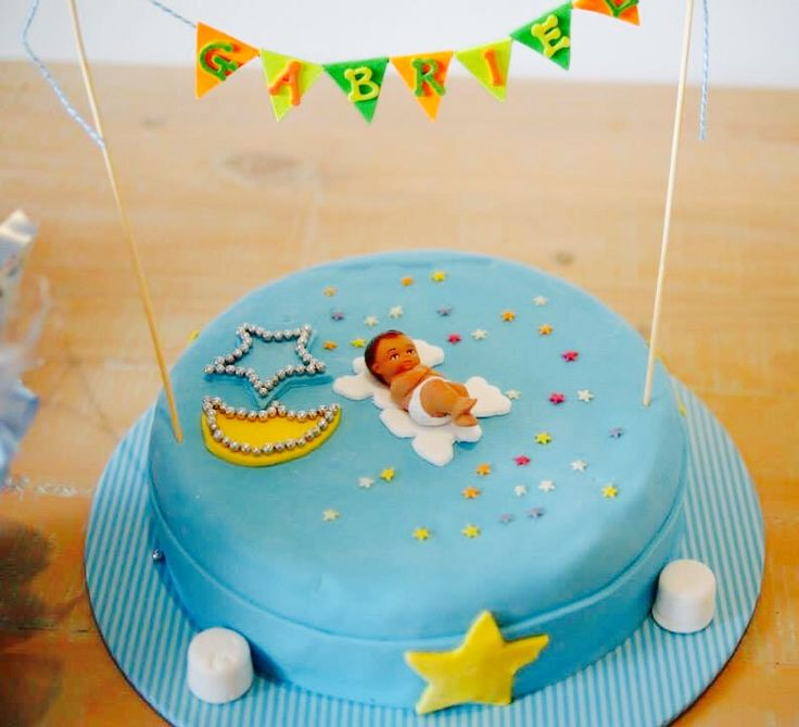 Simple but elegant Baptism/Christening Cake
