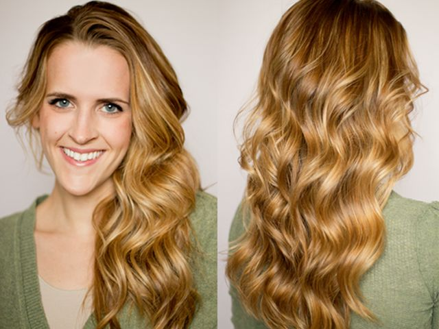 Step by step for soft flat iron curls